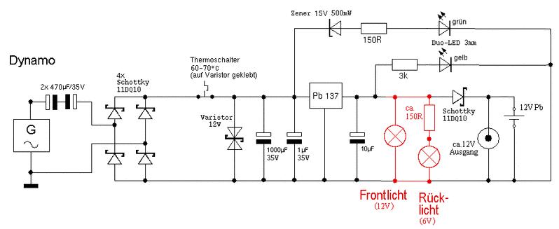 schaltung akku solar laden